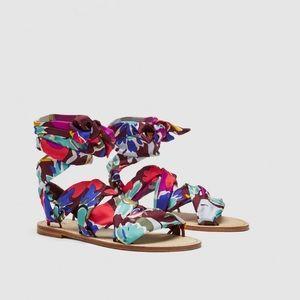 Zara Studio Scarf Sandals